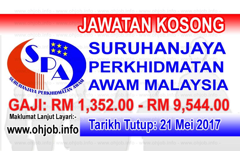 Jawatan Kerja Kosong Suruhanjaya Perkhidmatan Awam Malaysia (SPA) logo www.ohjob.info mei 2017