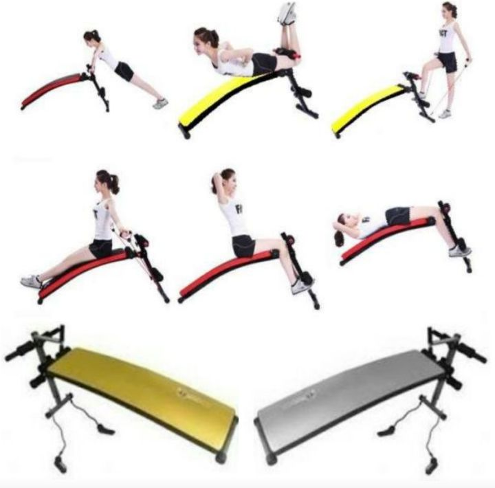 Sit-Up Benches: Adjustable Fitness Seats with Ropes and Springs for Situp Exercises