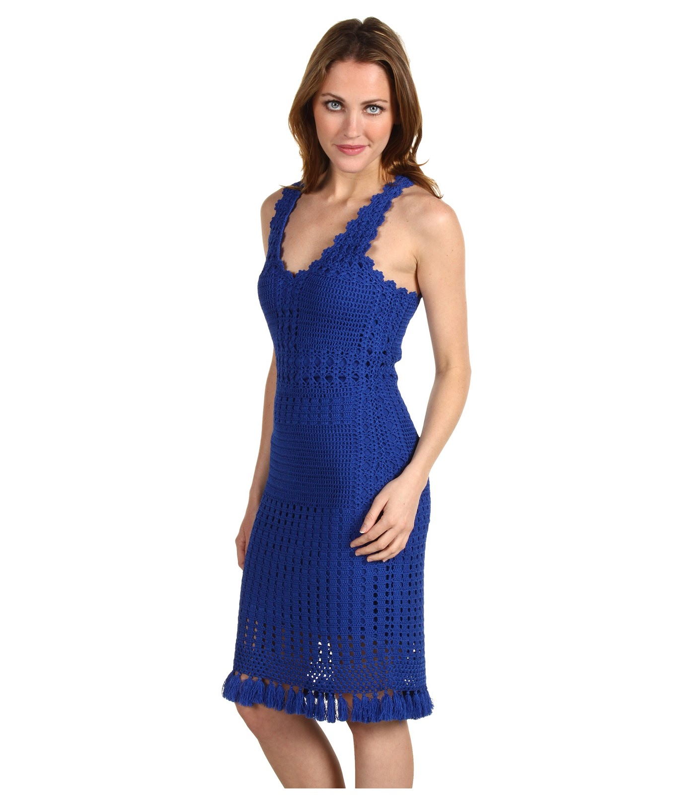 crinochet deep blue dress