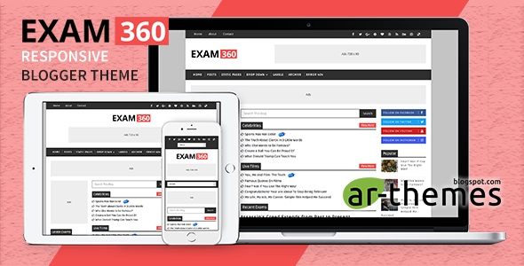 Exam360 Responsive Blogger Theme Preview