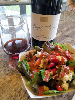 Angels Gate Pinot Noir with Spring Salad