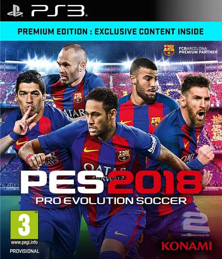 Aiden Playstation: PES ( PRO EVOLUTION SOCCER ) 2018 PS3 DOWNLOAD
