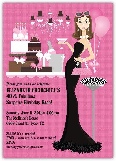 Choosing Joy Today Elizabeth S 40th Birthday Invitation