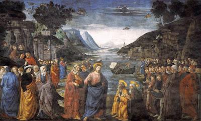 Ghirlandaio vocacao dos apostolos Capela sISTINA Guia portugues Roma - Dez Curiosidades sobre o teto da Capela Sistina