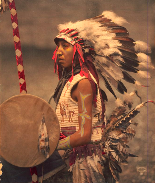 Native American Indian Pictures: Rare Color Tinted Historic