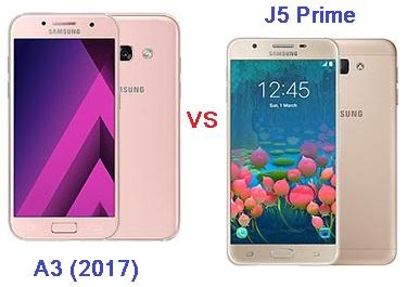 Harga dan Spesifikasi Samsung A3 (2017) vs J5 Prime