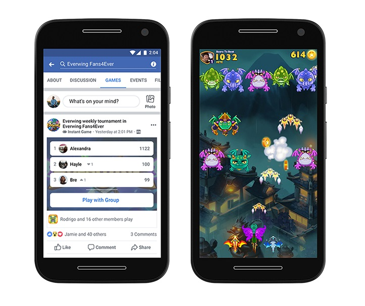 Facebook's Instant Games Expands to Include Groups, Lite App, Monetization