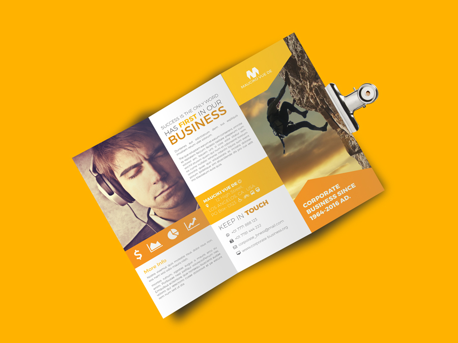 InDesign Template of Trifold Brochure - RONOUR DESIGN STUDIO - trifold indesign template
