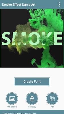 membuat nama dengan tulisan efek asap rokok