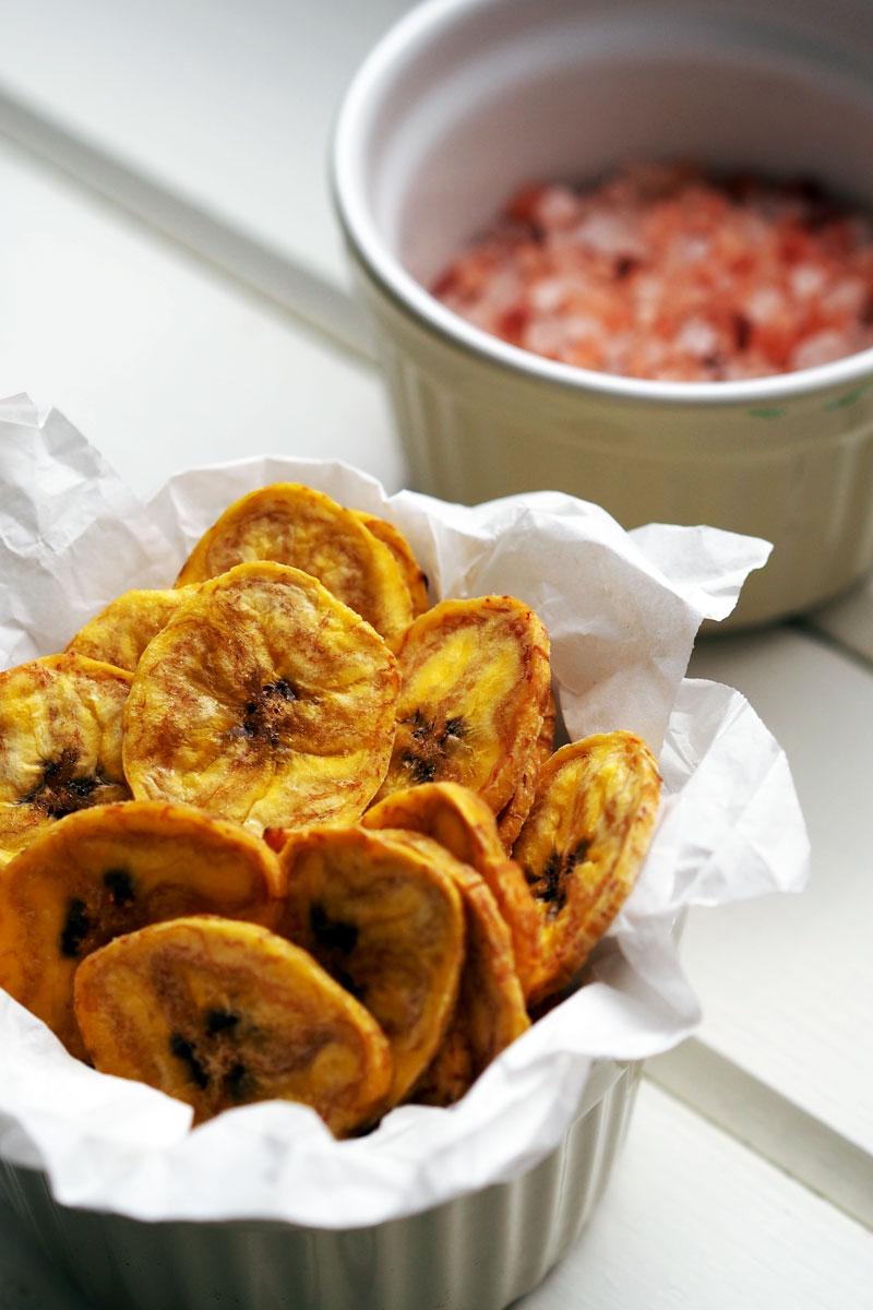 chrupiące chipsy z plantanów