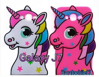 carcasa galaxy J7 unicornio