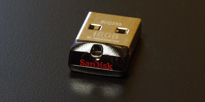 サンディスク「Cruzer Fit」USBメモリの本体デザイン