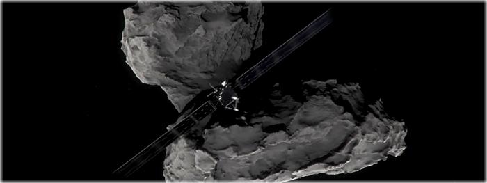 ultimas imagens do cometa feitas pela sonda Rosetta