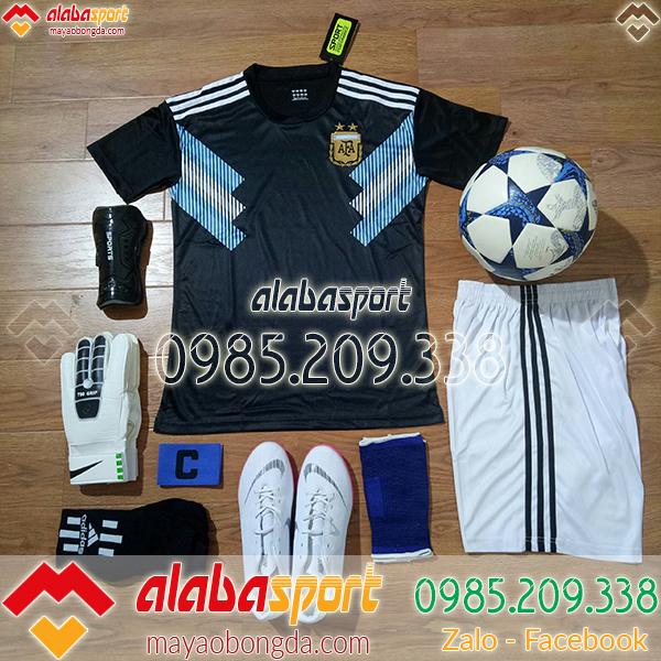 áo đội tuyển arghentina đen worldcup 2018