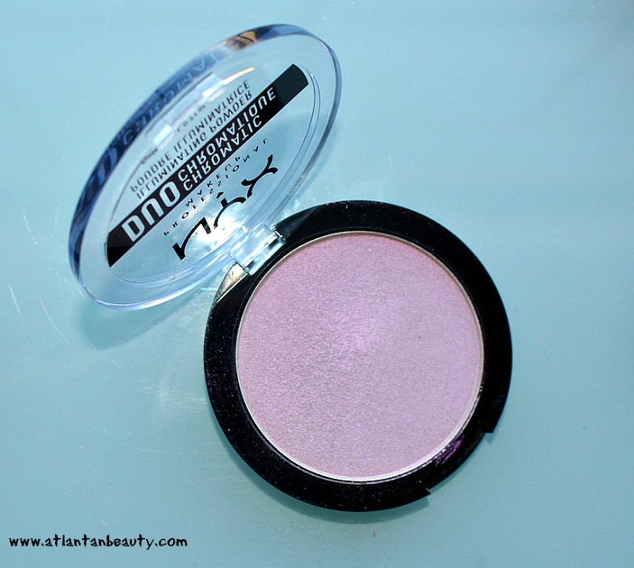 NYX Duo-Chromatic Illuminating Powders in Twilight Tint and Lavender Steel