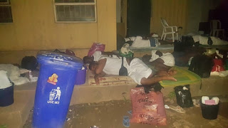 Corps Members Forced to Sleep Outside as Lagos NYSC Camp Allegedly Becomes Overcrowded (Photos)
