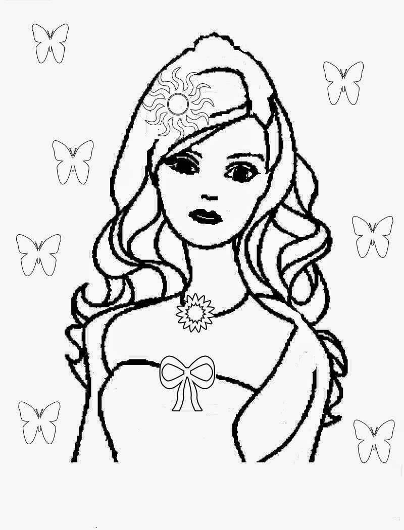 Barbie birthday cupcakes and free Barbie coloring pages ...
