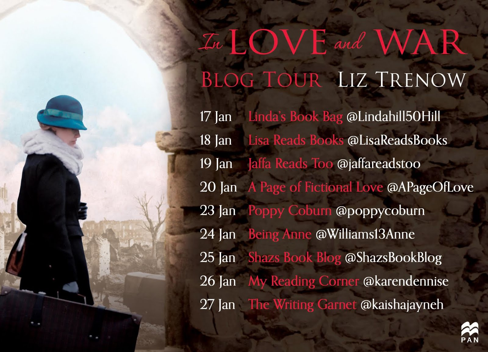 In Love and War Blog Tour 2018