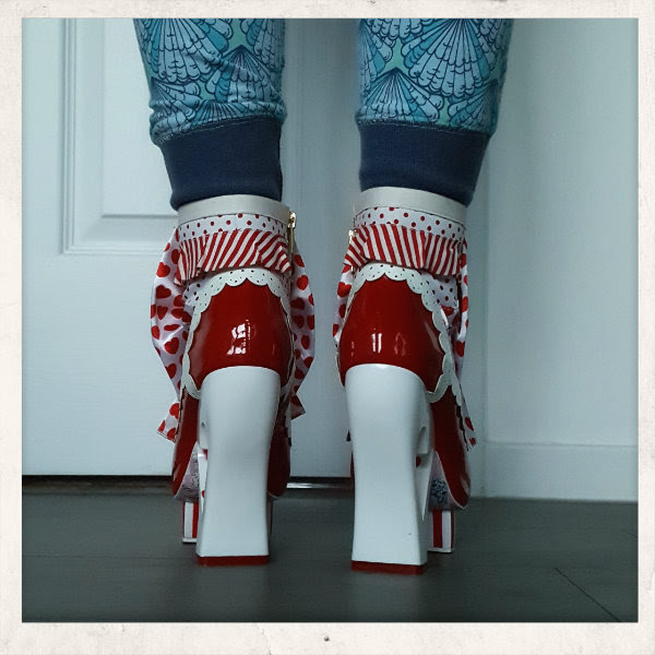 wearing irregular choice rosie with love ankle boots