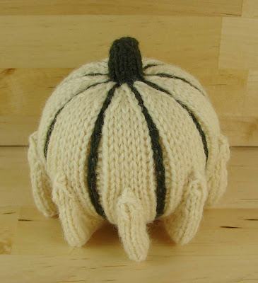 decorative, ornamental, gourd, knitted, green, white, crown of thorns