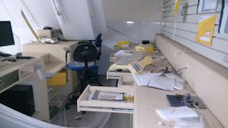 Bandidos fortemente armados arrombam correios de Barra de Santa Rosa