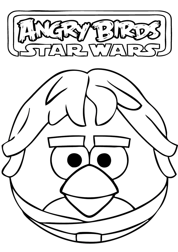 Angry Birds Star Wars Printable Coloring Pages Free Download