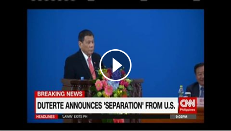 JUST IN: DUTERTE ANNOUNCES 'SEPARATION' FROM U.S.