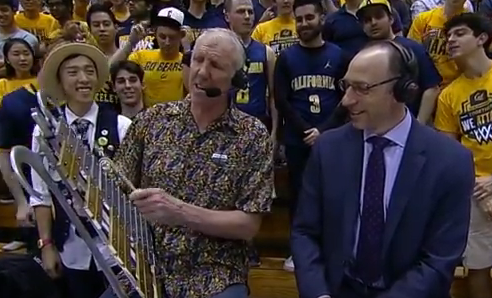 Bill Walton plays glockenspiel