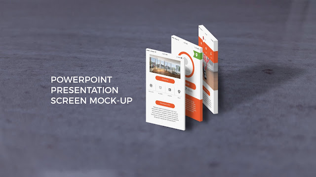 App Screen Mock-ups in Best Powerpoint Templates Slide 5