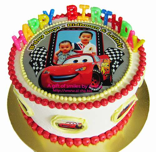 Rainbow Cake Edible Image Disney Cars