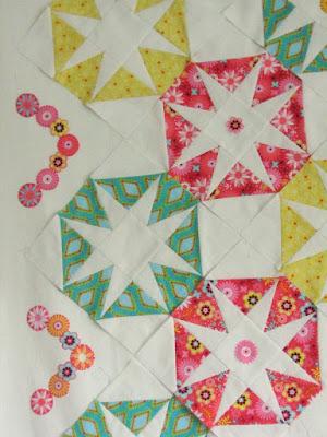 patchworkblokken voor babyquilt