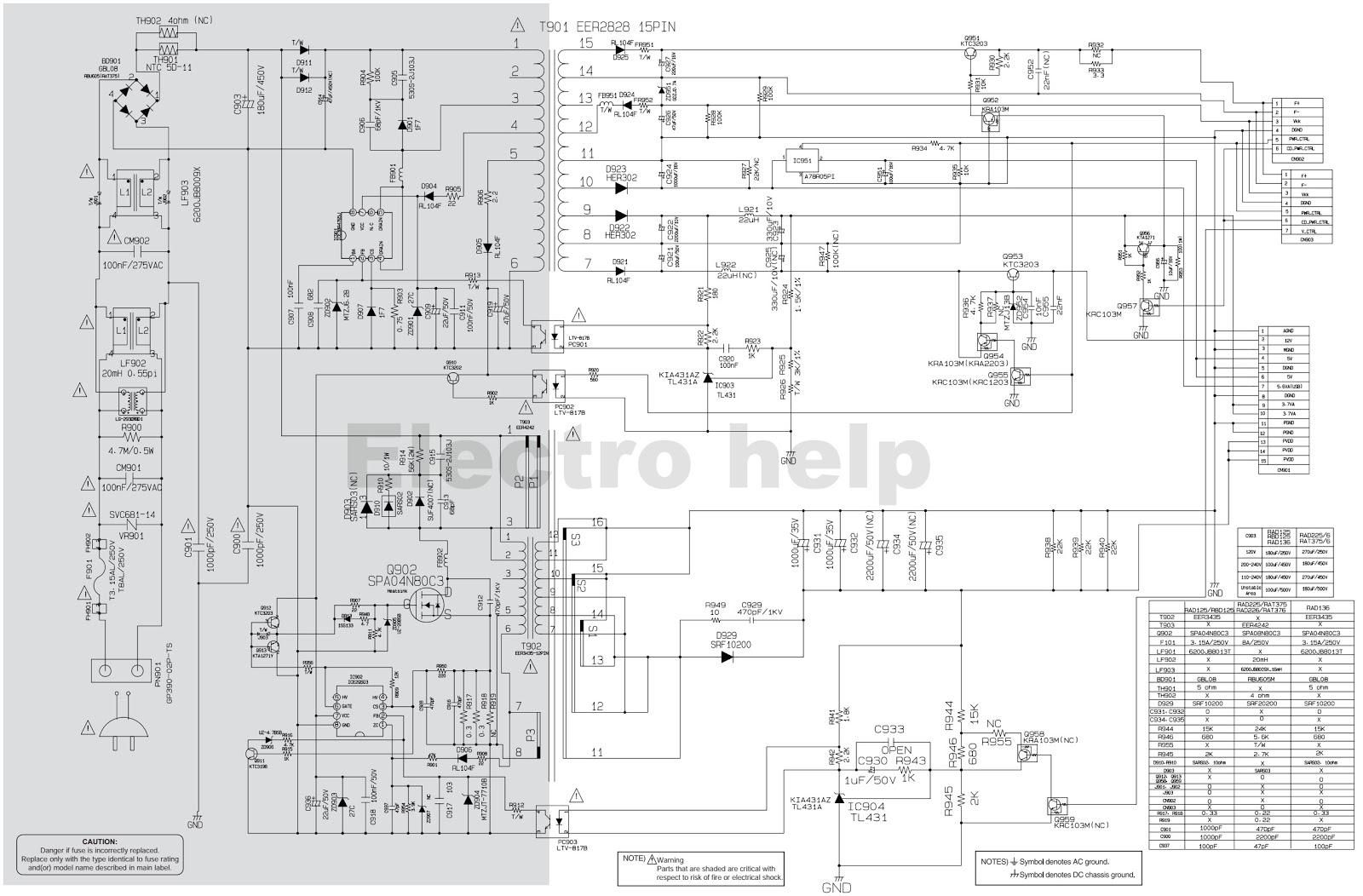 lg 1 lg rad226b ras376bf mini hi fi system smps and amp circuit Basic Electrical Wiring Diagrams at reclaimingppi.co