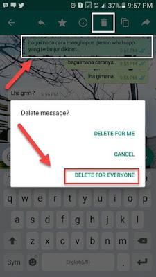 menghapus pesan delete for everyone di whatsapp