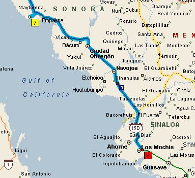 San Carlos Sonora Mexico Map.The Golden Years Road Trip From San Carlos To Los Mochis