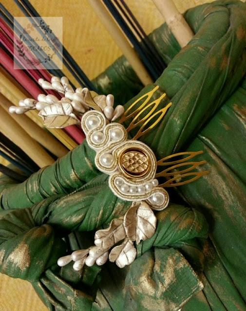 peineta artesanal para novia única y personalizada