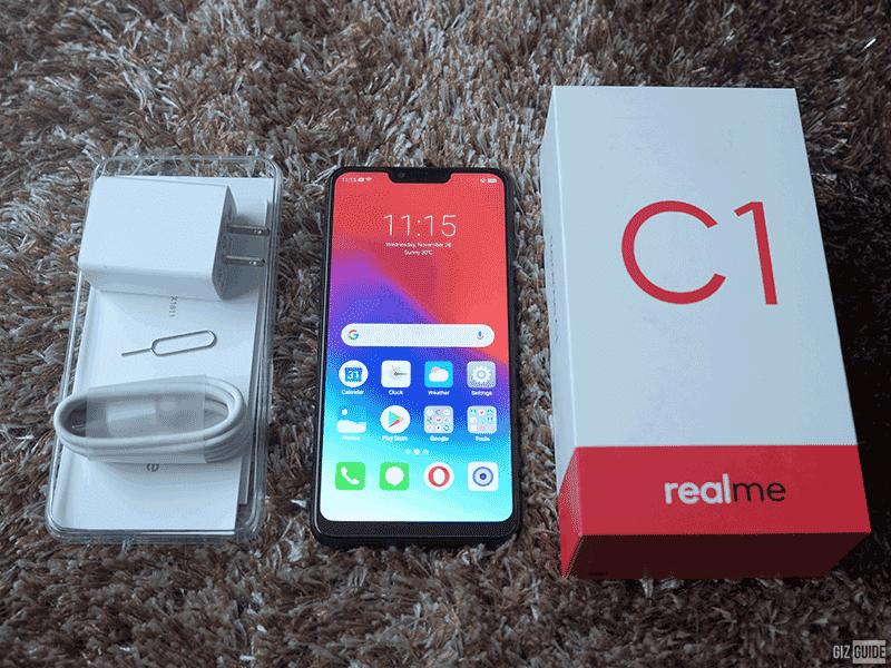 Realme C1 6.2-inch display