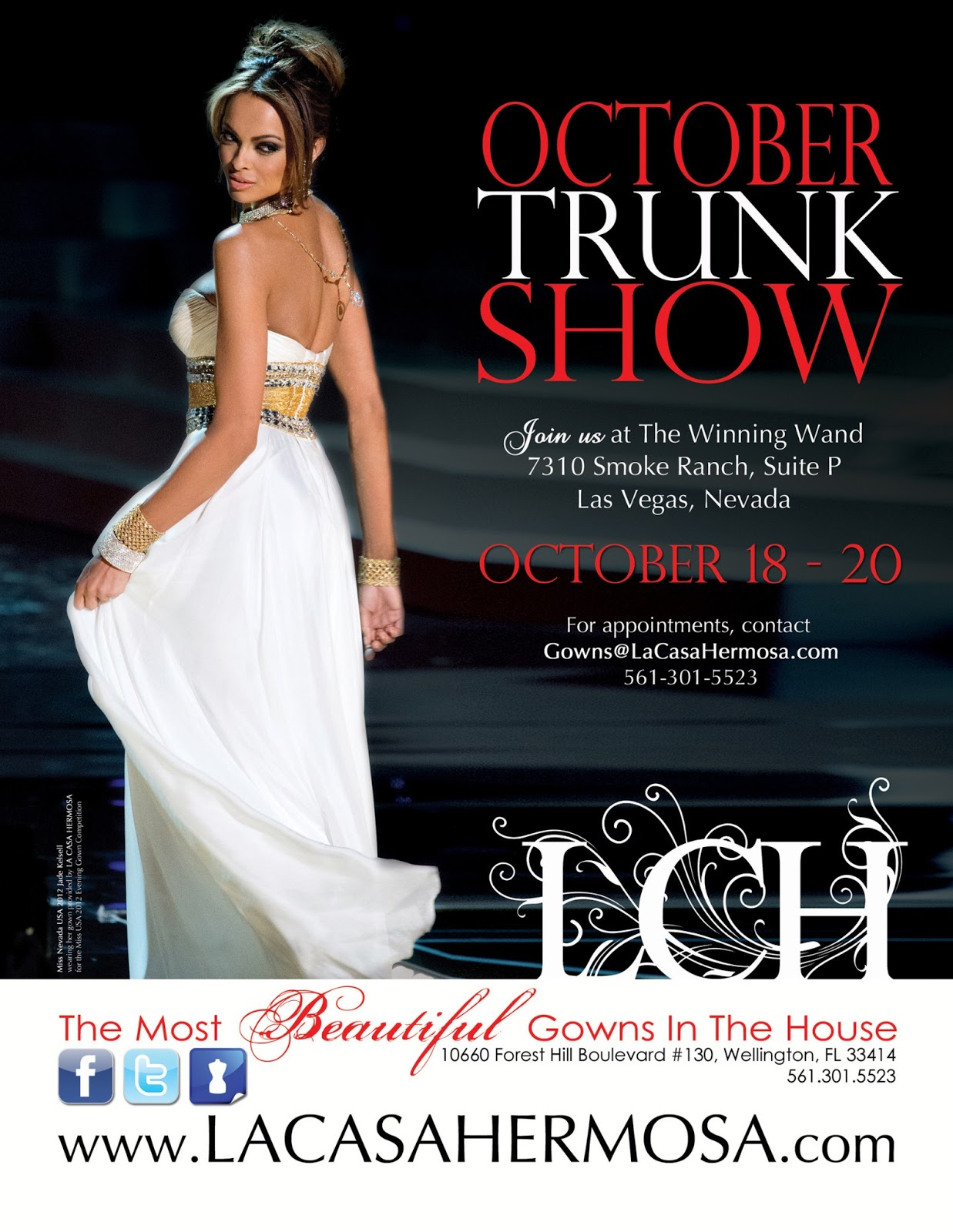 664ce46712c93 Multiple Trunk Show ads designed for LA CASA HERMOSA of Wellington • We  offer graphic design solutions for all your pageantry needs! • ALL STATES,  ALL AGES, ...