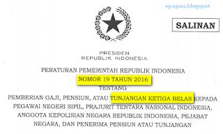 peraturan gaji 13 2016