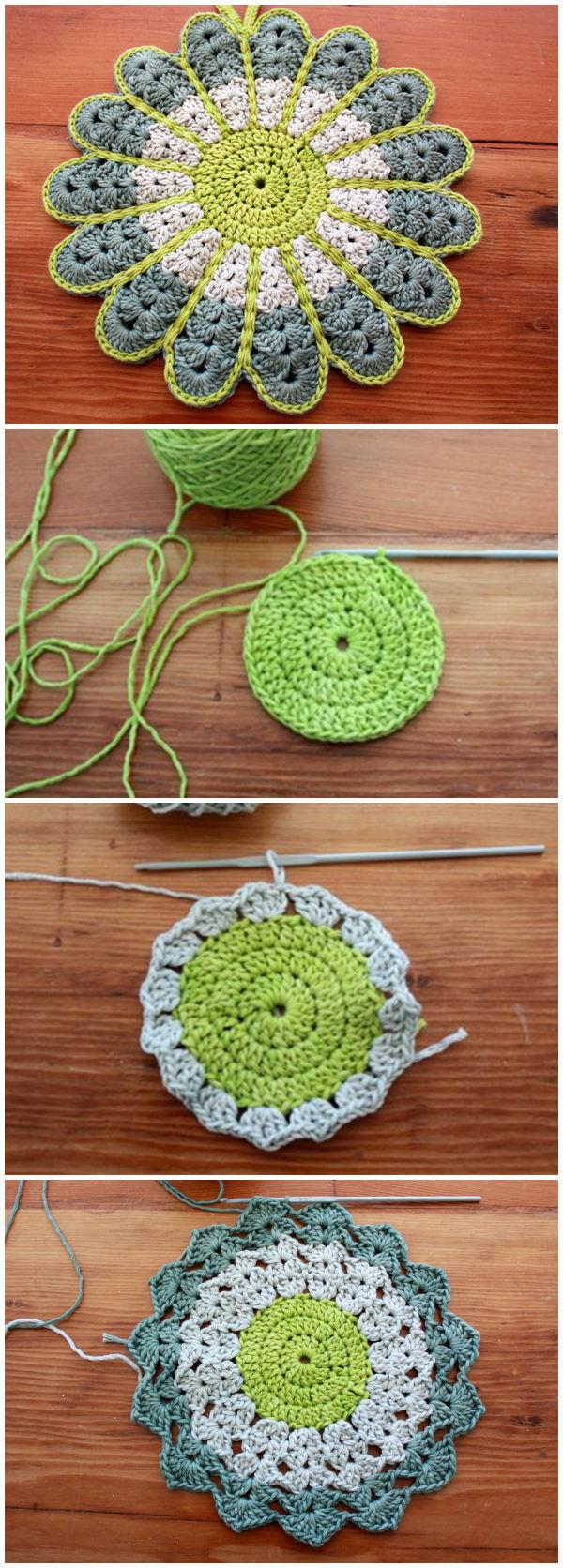 Crochet Flower Potstand FREE Pattern