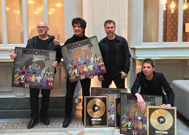 Certificación Disco de Platino para « 13 » el reciente opus de Indochine