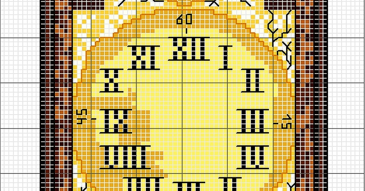 Ricami e schemi a punto croce gratuiti schema punto croce for Orologio punto croce schemi gratis