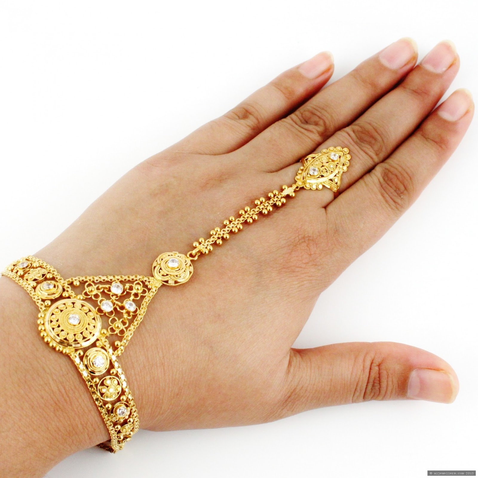 Dynamic Views: Beautiful Chain Ring Bracelet Fashion ...