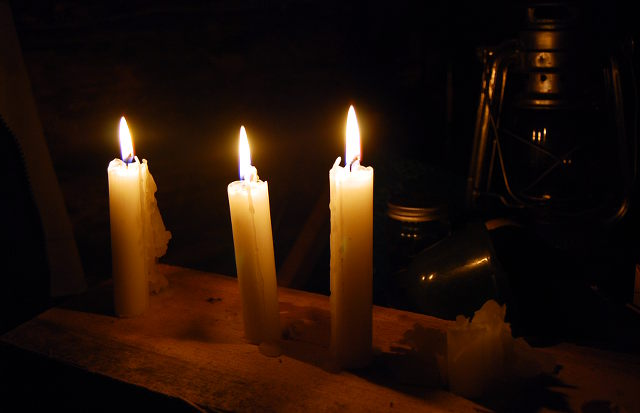 kynttilät, mökki, cottage