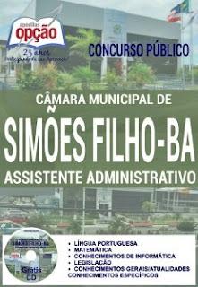 Apostila Câmara de Simões Filho 2016 Assistente Administrativo