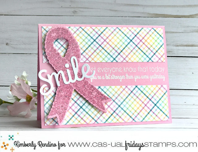 Calling All Sisters card by Kimberly Rendino | CAS-ual Fridays Stamps | breast cancer awareness | pink ribbon | cardmaking | stamping | clear stamps