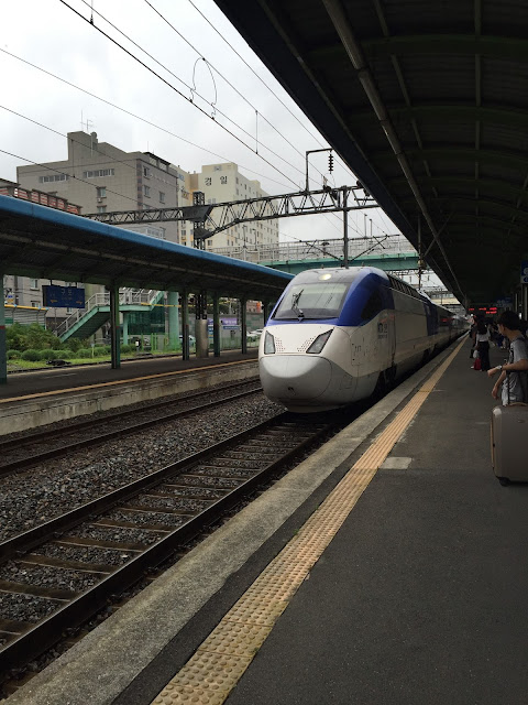 The KTX is a fast and relatively cheap way to get between major cities in South Korea. You can get from Seoul, in the north West, to Busan in the south east in 3 hours!