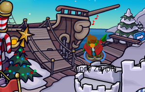 ROCKHOPPER LLEGO A CLUB PENGUIN
