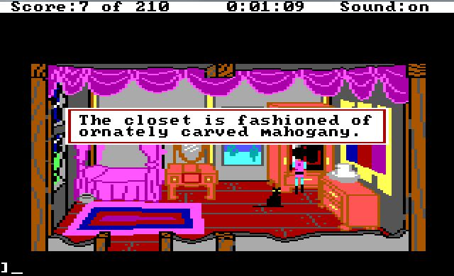 The adventure gamer game 5 kings quest iii adventure line of sight the solution is to move the robes which reveals the magic map but given this item is not required to complete the game i guess the developers can be fandeluxe Gallery