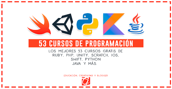 53 cursos gratis de programación: Ruby, PHP, Unity, Scratch, iOS, Swift, Python y más...