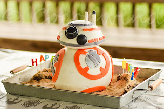 The making of BB8 - Star Wars Birthday Cake by Amateur Cakers A.K.A Parents